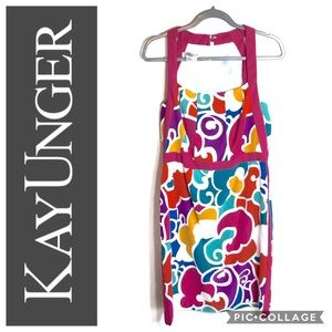 Kay Unger Vintage Multi Color Dress 14